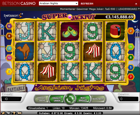 Arabian nights Guts Xpress slot king