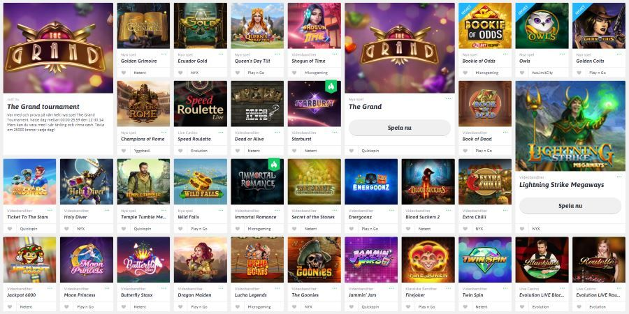 Snabbare casino recension kruunut